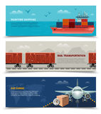 Transportation Horizontal Banners Stock Images
