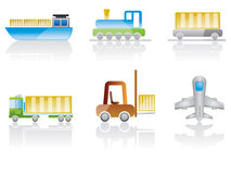Transportation icon set. Different kind of transportation - vecto icon set Royalty Free Stock Photos