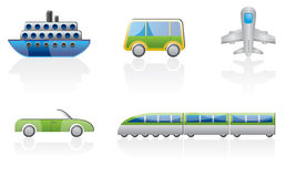 Transportation icon set. Different kind of transportation icons vector icon set Stock Image