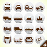 Transportation icon set Stock Image