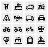 Transportation icon set Royalty Free Stock Photography
