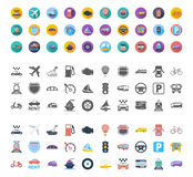 Transportation Icon Set Stock Images