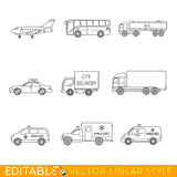 Transportation icon set Stock Photography