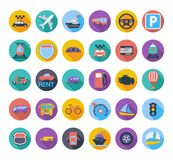 Transportation icon set. Royalty Free Stock Image