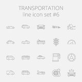Transportation icon set Royalty Free Stock Images