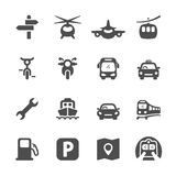 Transportation icon set 2, vector eps 10 Stock Photo