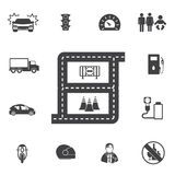 Transportation icon set Royalty Free Stock Photos