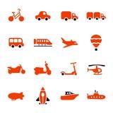 Transportation icon set Stock Photos