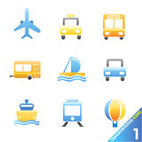 Transportation icons 1 Stock Images