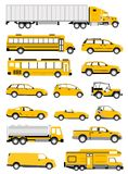 Transportation icons Stock Photo