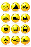 Transportation icons Royalty Free Stock Photography