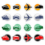 Transportation icons Stock Photos