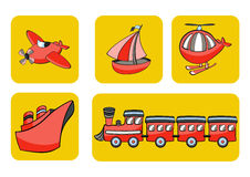 Transportation icons Stock Images