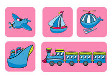 Transportation icons Stock Image