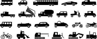 Transportation icons. Various transportation vehicles vector icons vector illustration