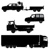 Transportation icons collection - vector silhouett Stock Images