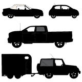 Transportation icons collection - vector silhouett Stock Photos