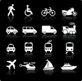 Transportation icons design elements Royalty Free Stock Photos