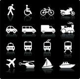 Transportation icons design elements Royalty Free Stock Photos