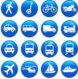 Transportation icons design elements Stock Images