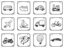Transportation Icons Royalty Free Stock Photos