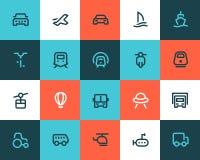 Transportation icons. Flat style Stock Images