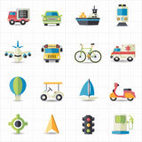 Transportation icons. This image is a vector illustration Stock Photos
