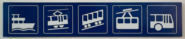 Transportation icons Stock Image
