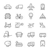 Transportation Icons Line Royalty Free Stock Photography