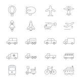 Transportation Icons Line Set Of Vector Illustration Royalty Free Stock Photos