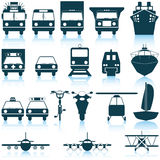 Transportation icons set. Transportation set of different vector web icons Stock Images