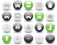 Transportation icons set Stock Images
