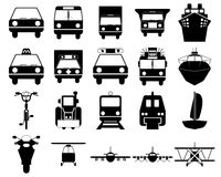 Transportation icons set. Transportation set of different vector web icons Royalty Free Stock Image