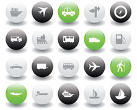 Transportation icons set Stock Photos