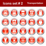 Transportation icons set. Transportation set of different vector web icons Royalty Free Stock Photo