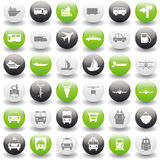 Transportation icons set. Transportation set of different vector web icons Stock Photos