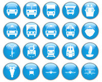 Transportation icons set. Transportation set of different vector web icons Royalty Free Stock Images