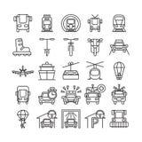 Transportation icons set. Royalty Free Stock Image