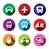 Transportation icons set. Royalty Free Stock Images
