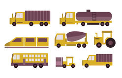 Transportation icons set. Stock Photo