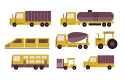 Transportation icons set. Stock Photo