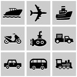 Transportation icons set great for any use. Vector EPS10. Royalty Free Stock Photo