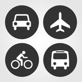 Transportation icons set great for any use. Vector EPS10. Royalty Free Stock Image