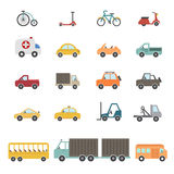 Transportation icons set Royalty Free Stock Photo