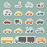 Transportation icons set Stock Photos