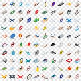 100 transportation icons set, isometric 3d style. 100 transportation icons set in isometric 3d style for any design vector illustration Royalty Free Stock Image