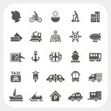 Transportation icons set Stock Image