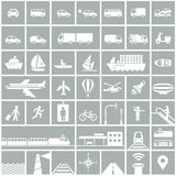 Transportation icons set Royalty Free Stock Photography