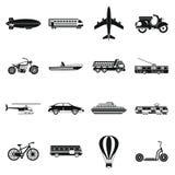 Transportation icons set, simple style. Transportation icons set. Simple illustration of 16 transportation icons for web royalty free illustration