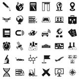 Transportation icons set, simple style. Transportation icons set. Simple style of 36 transportation vector icons for web isolated on white background Royalty Free Stock Photography